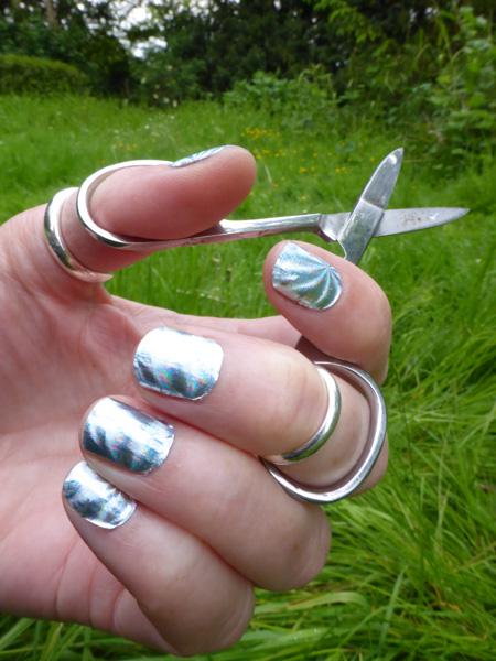 Hologram nail foils: 'orbital'