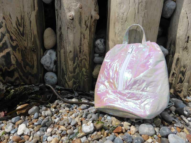 Crinkly rucksack by Motel Rocks