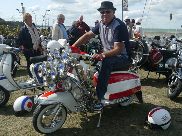 Dave and his Carnaby Street Lambretta