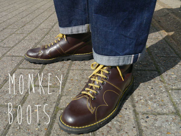 Wine leather monkey boots