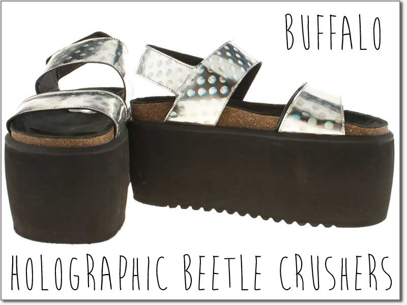 Buffalo holographic sandals