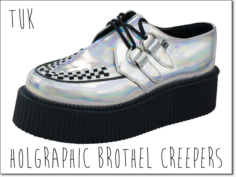 Iridescent brothel creepers