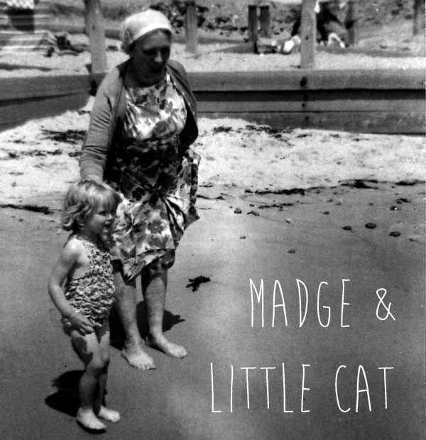 Madge (in her early fifties) and little Cat