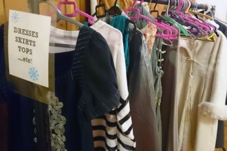 The clothes rail starts to fill up