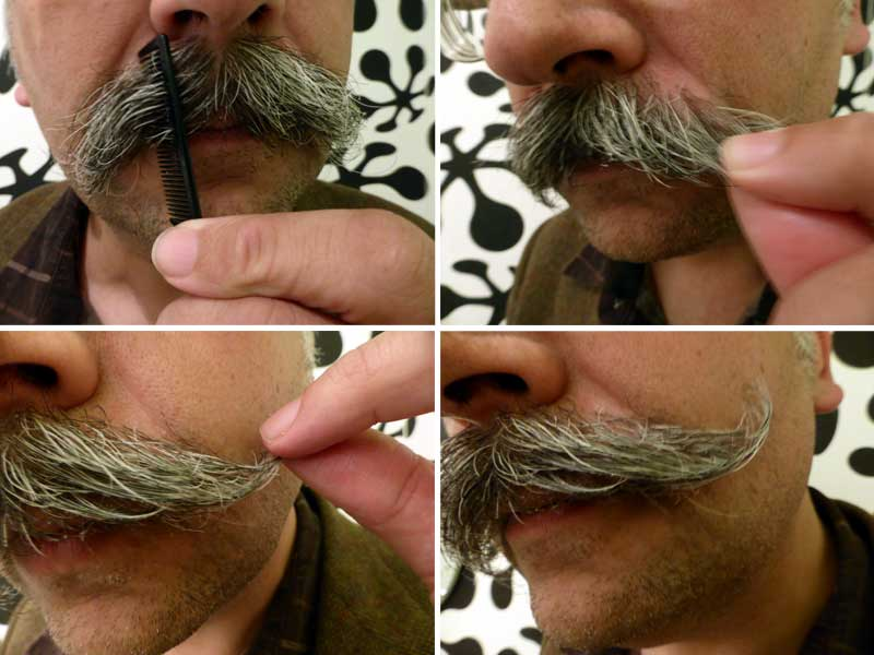 How to wax your moustache.