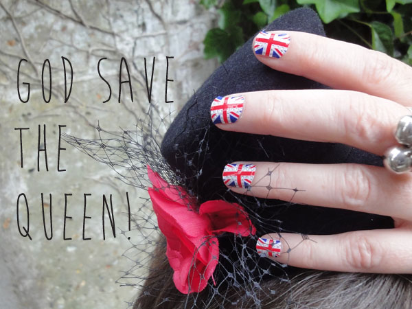 Union Jack nail stickers by Claire's