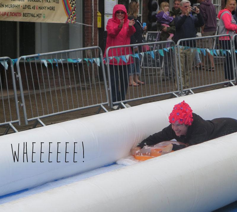 Helen owning Ryde Slide
