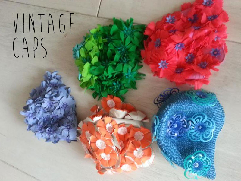 Helen' vintage swimming caps