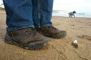 On the beach with the HiTec Altitude Pro boots