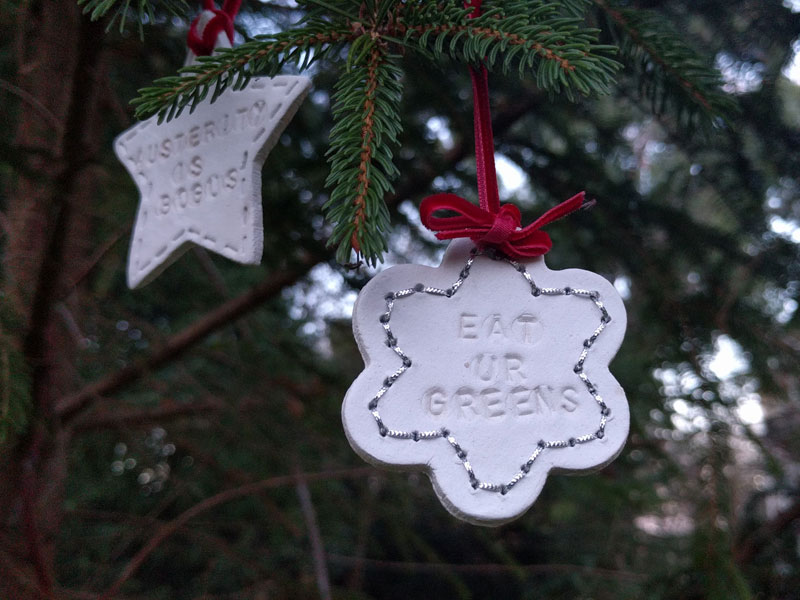 Anarchic Christmas decoration