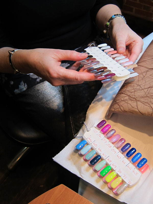 Choosing nail colour for Maddison Avenue manicure