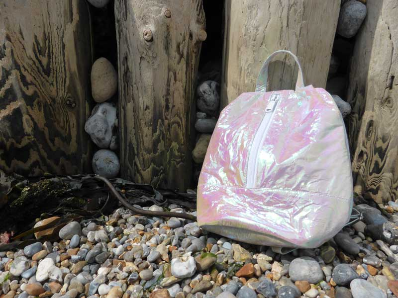 Crinkly rucksack by Motel Rocks